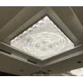 Lustre contemporain personnalisé éclairage carré cristal plafonnier16414