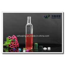 Transparent Square Shaped 500ml Cooking Oil Glass Bottles