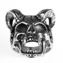 Retro animal sheep head ring domineering men's jewelry