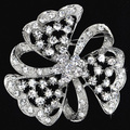 Alloy Metal Rhinestone Flower Women Brooch Crystal Wedding Brooch Pins Vintage Fashion Jewelry Wholesale