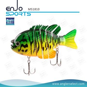 Angler Select Fishing Tackle Multi articulado vida-como Swimbait sal e pesca de água doce atração (MS1810)