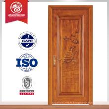 Bonne vente fini dernier design intérieur porte en bois