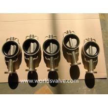 Válvula de mariposa tipo Wafer C95400 C95800 Al-Bronze (D71X-10/16)