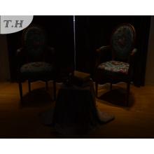 Tela 100% de lino del poliester para el sofá y la silla de Uphostery