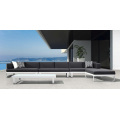 Meubles extérieurs en aluminium de patio de sofa de salon de sofa de sélectionnel