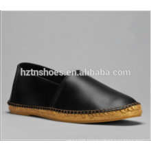 Soft PU Leather Upper Espadrille Shoes Low Heel Casual Flat Shoe