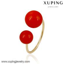 13863 Xuping nuevo diseño de moda chapado en oro anillos de mujer