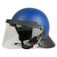 Anti émeute casque de haute qualité peut être adapté avec masque à gaz