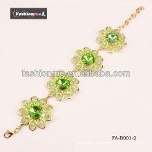 2013 nova chegada grande círculo diamante cristal pulseiras pulseiras FA-B001