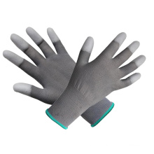 Polyester PP Palm Coated Gray PU Glove