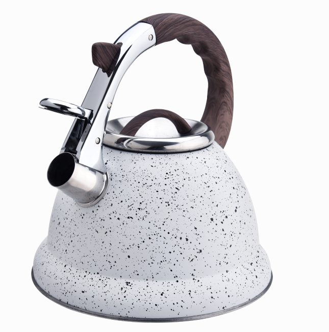 Marble Softtouch Handle Whistling Tea Pot 417