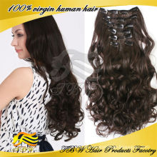 wholesale loose curly black clip in hair extension for African American