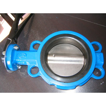 One Shaft With Pin Wafer Butterfly Valve