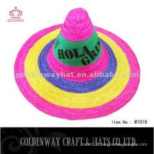 Vente en gros la plus nouvelle fête adulte promotionnelle chapeau de paille de sombrero mexicain