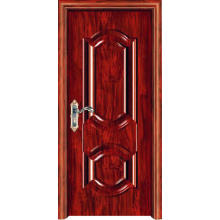 Porte en acier en bois de 0,8 mm pour l'intérieur