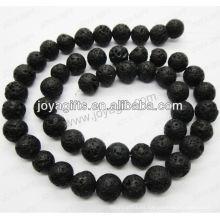 Perlas redondas de la piedra volcánica / 4mm / 6mm / 8mm / 10 / mm / 12mm grado A