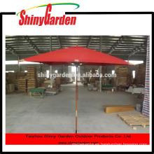 material cuadrado de madera del paraguas de playa del patio de madera
