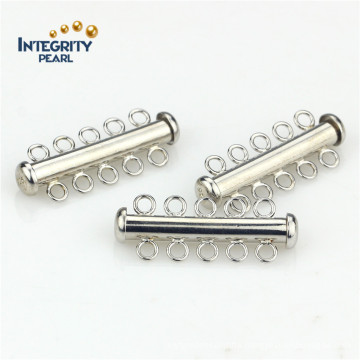 Jewelry Accessory 5 Rows 925 Sterling Silver Tube Clasp