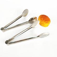 Venta caliente herramienta de cocina de acero inoxidable comida que sirve mini pinzas de hielo para la venta