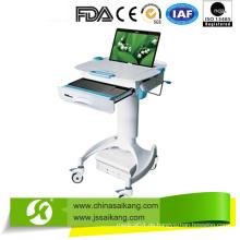 Dauerhafte Pulverfarbe Mobile Doctor Workstation Trolley