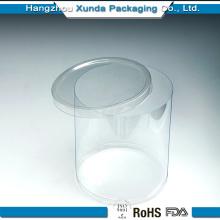 Récipient en plastique transparent pour emballage de bonbons avec couvercle