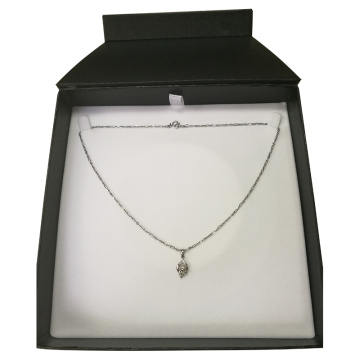 Zip Lock Packed Jewelry Necklace Caja de papel