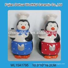 Poteau de biscuit en céramique de pingouin publicitaire à prix compétitif