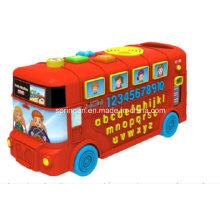 Números de autobús de juguete de instrumentos musicales y alfabeto