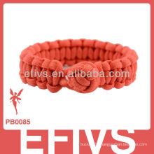 2013 new style diamond knots paracord bracelet shackle