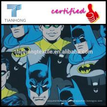 Супер герой Робин Бэтмен печати 100 хлопок ткань сатин в легкий вес для одежды