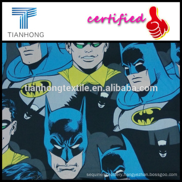super hero Robin batman printing 100 cotton sateen fabric in light weight for clothing