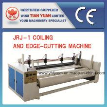 Machine automatique de coupe et de bobinage d'ouate de polyester