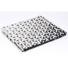 Super thick warm blanket pure wool jacquard blanket
