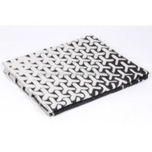 Cobertor espumante e espumante de manta jacquard de lã pura