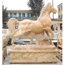 Stone Marble Horse Statue Animal for Garden Sculpture (SY-B116)