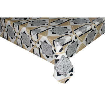 Elegant Tablecloth Cotton Polyester with Non woven backing