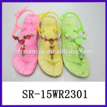 Coloful Fashion PVC sandals pictures of sandals for lady women sandals 2015