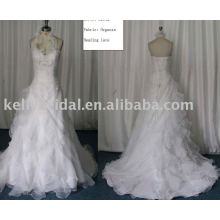 Fornecedor de atacado Superior Organza A-line Wedding Dress