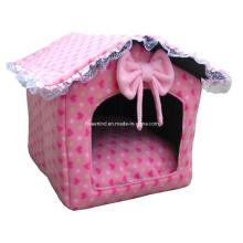 Casa de cama de veludo, brinquedo do animal de estimação do cão