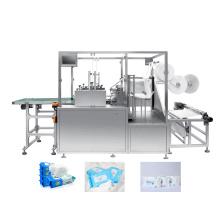 Máquina automática horizontal de embalagem de lenços umedecidos