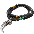 Fashion Dragon Head Wolf Zahn Anhänger Halskette Schmuck