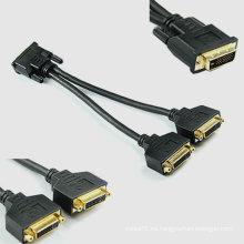 24 + 1 DVI splitter Adaptador A DVI Maleto Dual Female Splitter Adapter