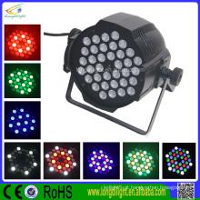 36 * 3W diodo emissor de luz de efeito de disco efeito par luz 3in1 RGB LED par luz par 64 led
