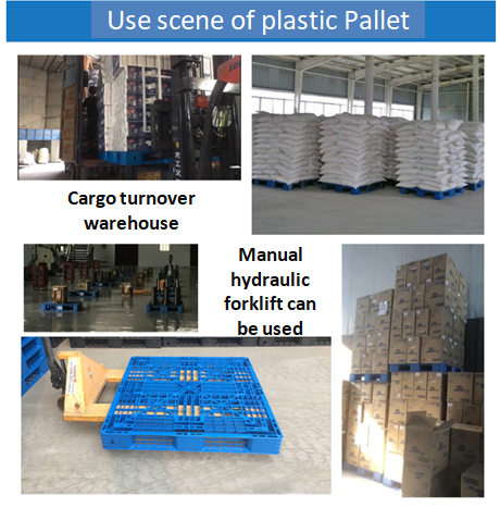 Six Runners Plastic Pallet