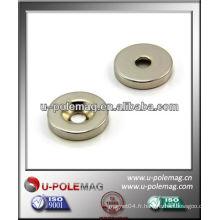 D25x5mmx6mm Aimant Sunk Neodymium