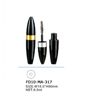 5.5ml Plastic Mascara Tube with Golden Ring