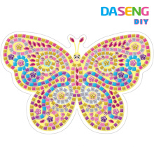 Diy juguete de color pegajoso espuma mosaicos rompecabezas para niños