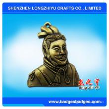 Emblema feito sob encomenda do metal da imitação 3D da antiguidade da pessoa clássica