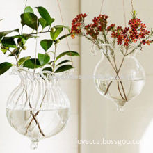 2014 Fashion Popular Hanging Glass Terrarium Ornament, Measures Depends on Shape