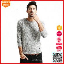 Los nuevos saltadores del mens de la manera tejen el suéter lleno del suéter del telar jacquar del patrón